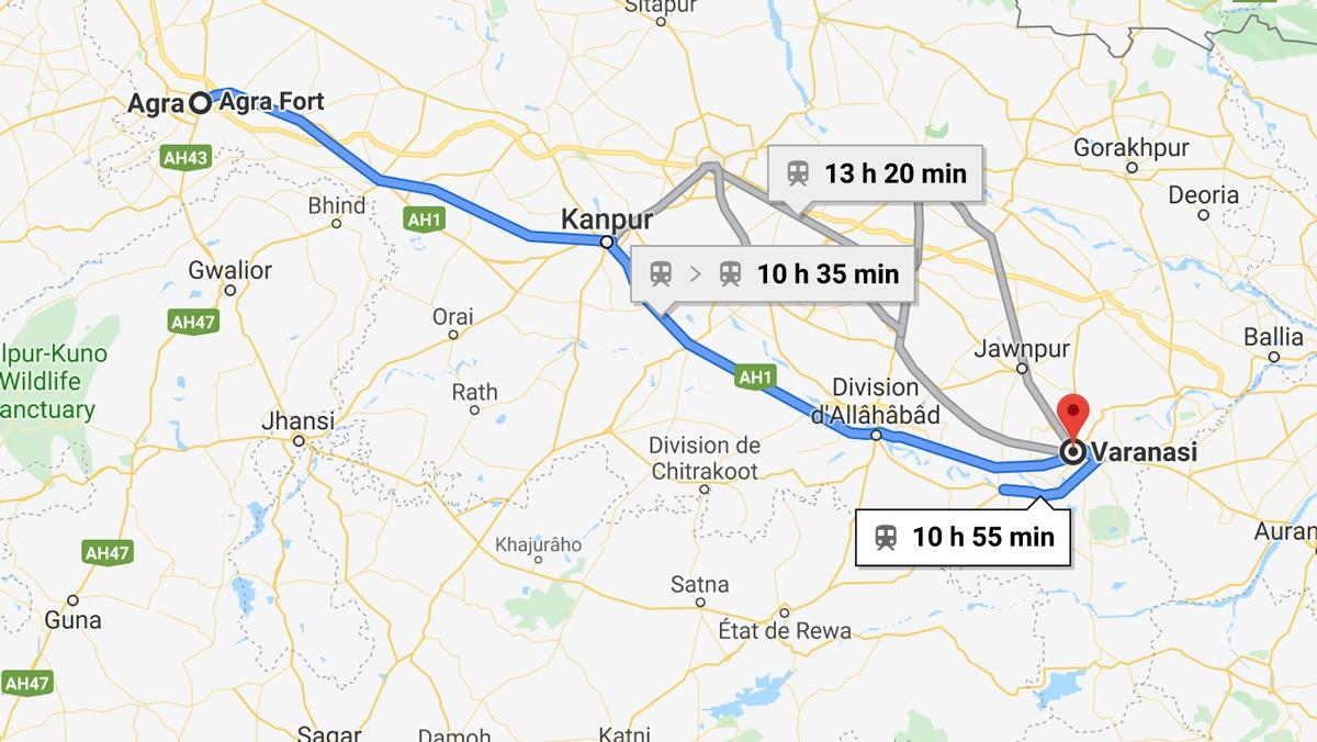 De Agra à Varanasi en train