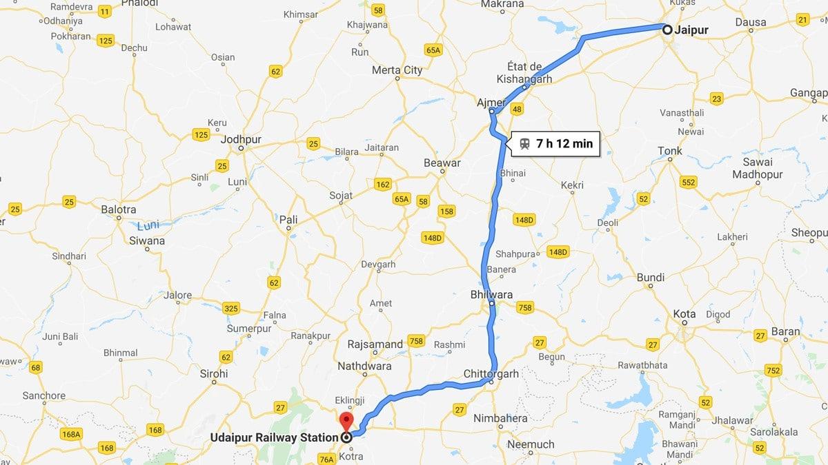 De Jaipur à Udaipur en train
