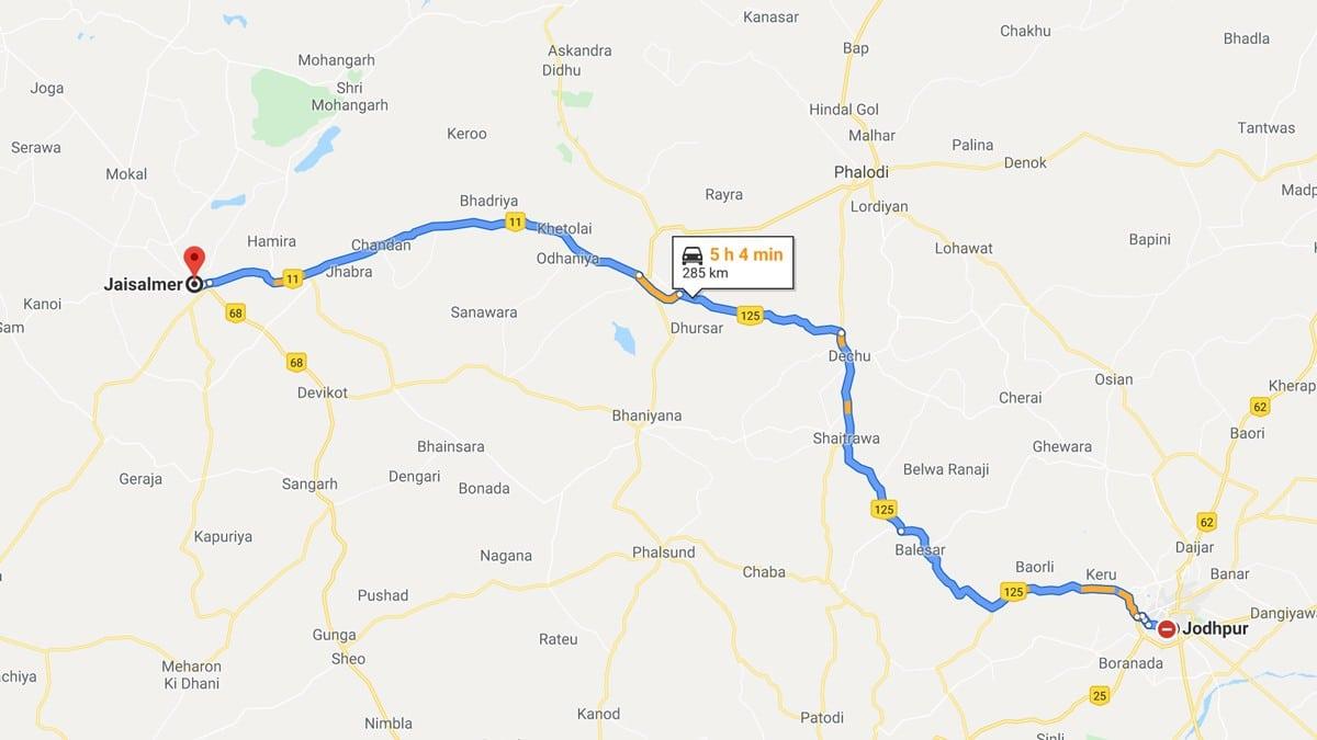 De Jodhpur à Jaisalmer en train