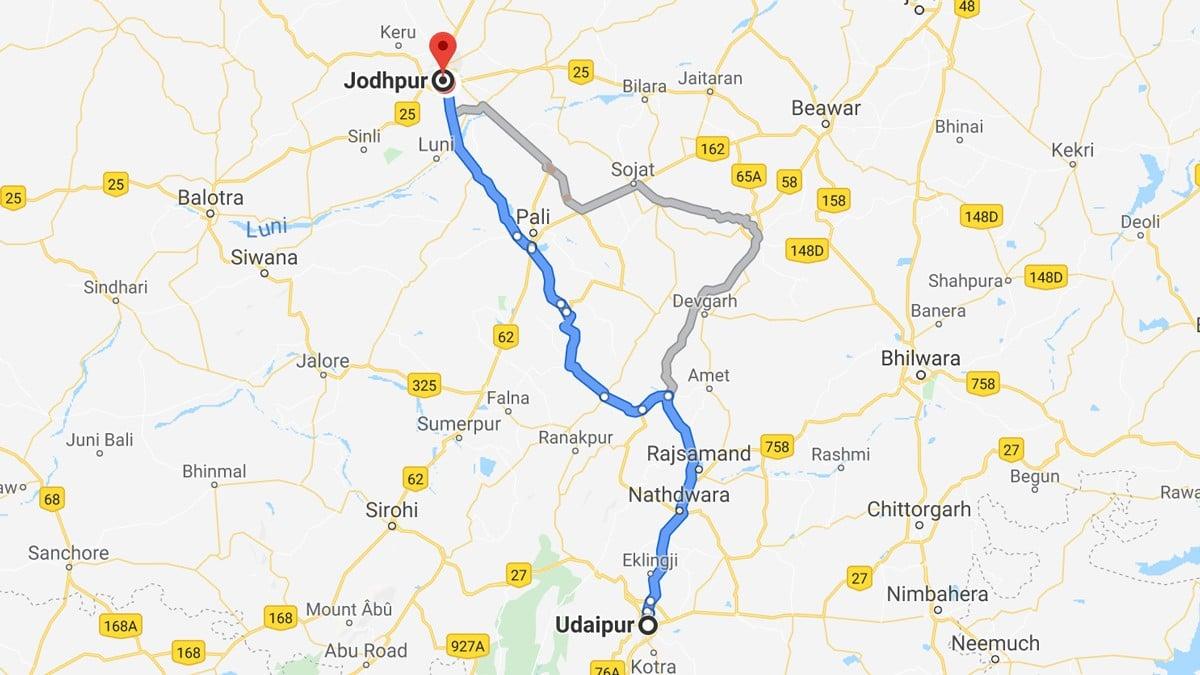 De Udaipur à Jodhpur en voiture